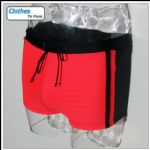 Swimming Trunks - Red & Black